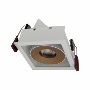 Downlight 3W Led Square Gold