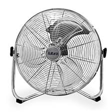 "Fan Floor Chrome 18"" H/V Fresco"
