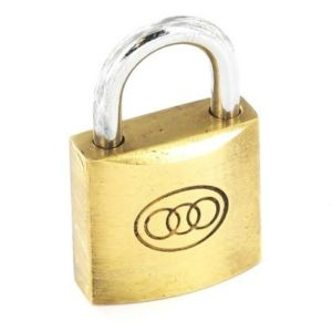 Padlock Tricircle 38Mm Brass